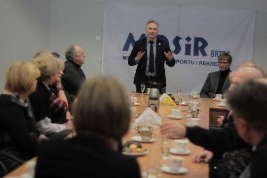 Spotkanie Burmistrza z pracownikami MOSIR