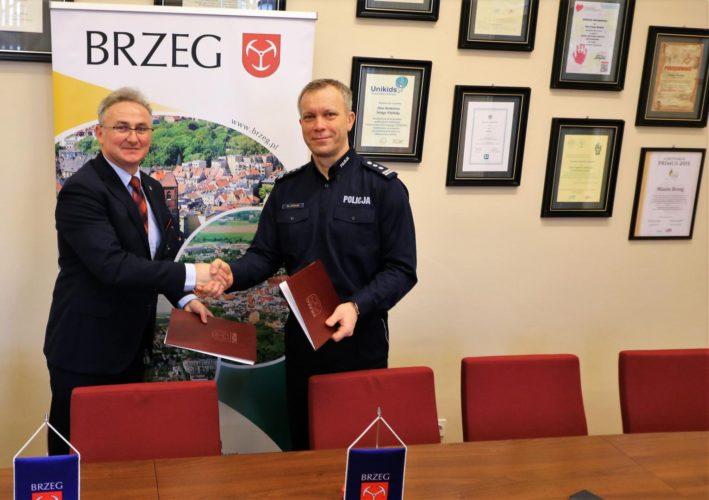 Gmina Brzeg Wspiera Policj