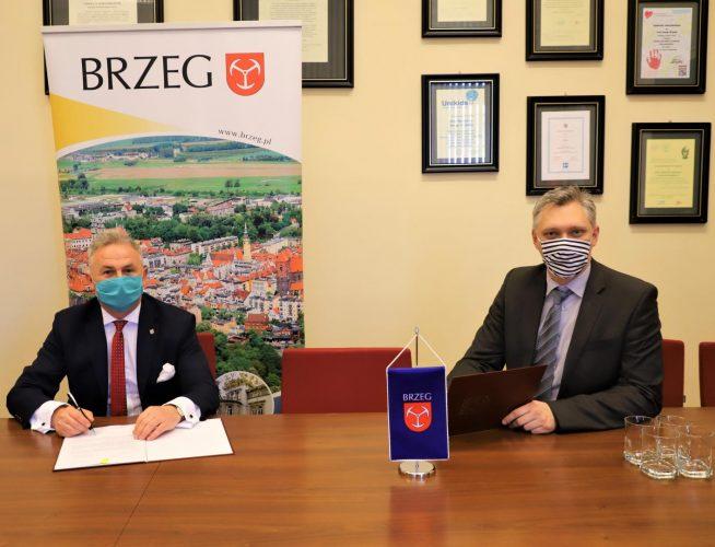 Spotkanie Burmistrza Brzegu Z Dyrektorem Brzeskiego Centrum Medycznego