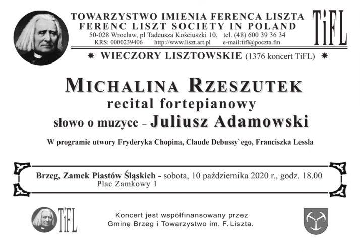 Zaproszenie Na Kolejny Koncert Z Cyklu Quot Wieczory Lisztowskie Quot