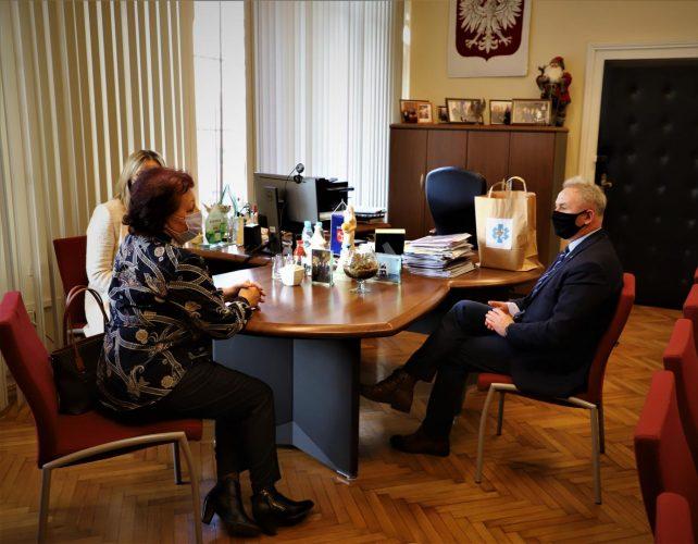 Spotkanie Z Pani Janin Podobi Sk Prezesem Brzeskiego Stowarzyszenia Promocji Zdrowia