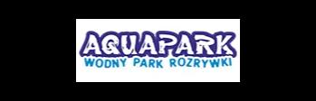 Logotyp Aquaprku brzeskiego - kolorowy napis Aquapark wodny park rozrywki