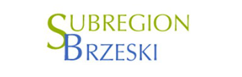Logotyp Subregionu Brzeskiego - napis dwukolorowy Subregion Brzeski