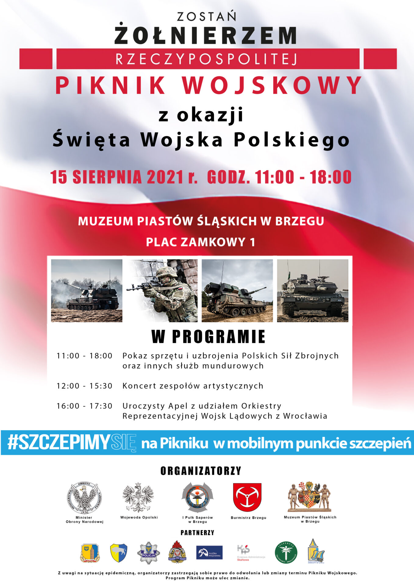 Plakat obchodów Święta Wojska Polskiego