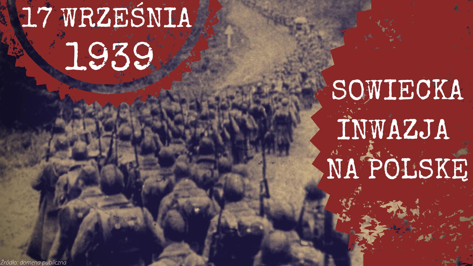 Plakat informujący o napaści ZSRR na Polskę 17 września 1939 roku.