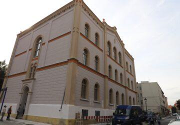 Remontowany gmach prokuratury rejonowej w Brzegu