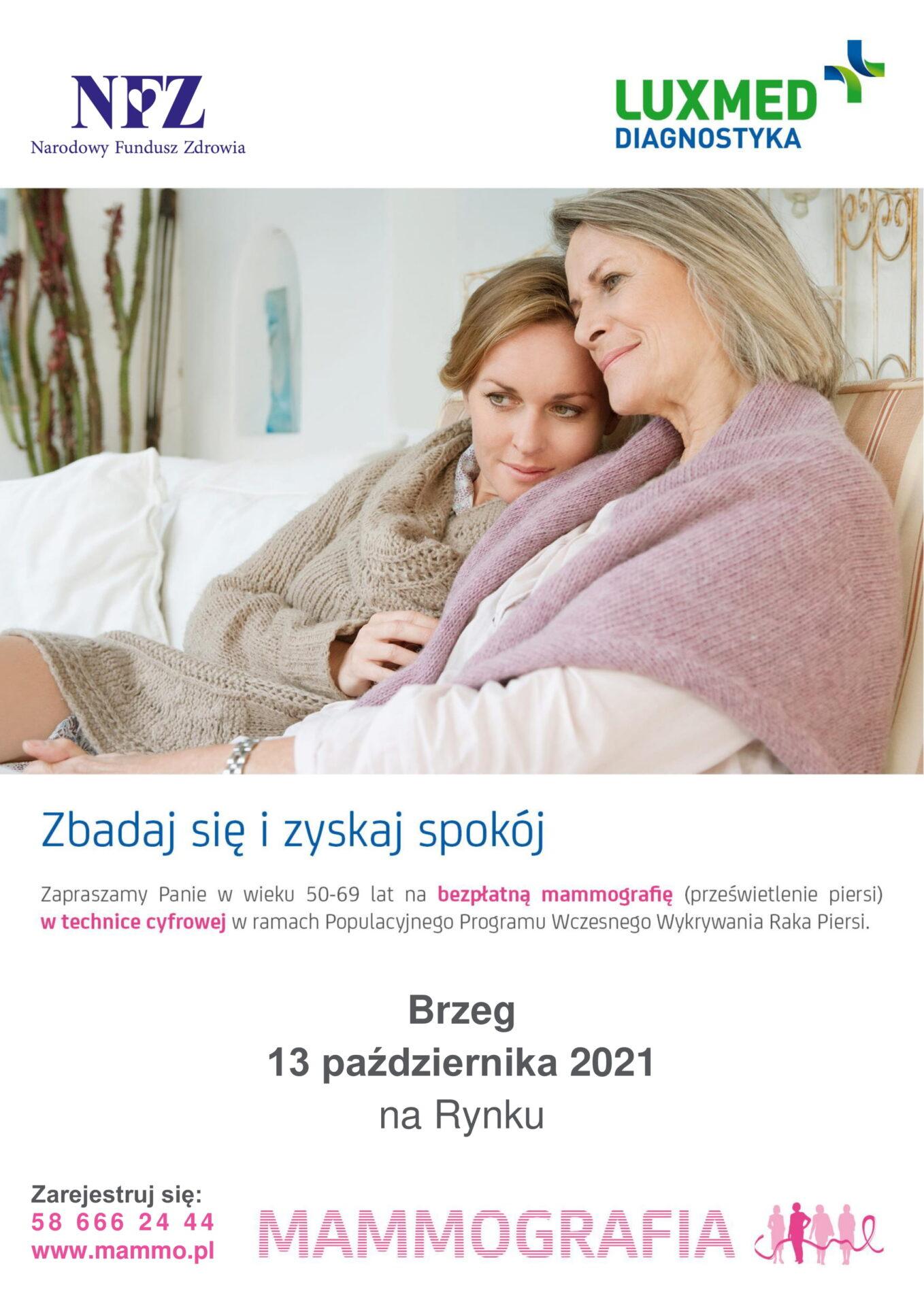 Plakat badań mammograficznych