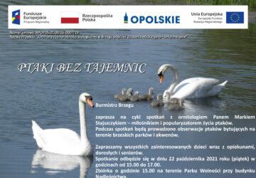 Plakat spotkania z ornitologiem