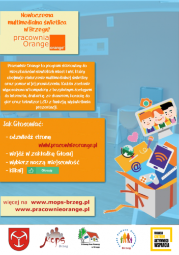 Miejski O Rodek Pomocy Spo Ecznej W Brzegu Wraz Z Fundacj Centrum Aktywnego Wsparcia Zapraszaj Do G Osowania Na Pracowni Orange